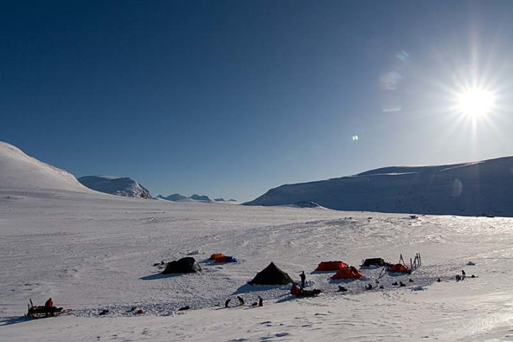 Our camp together with Winter Sarek expedition camp.