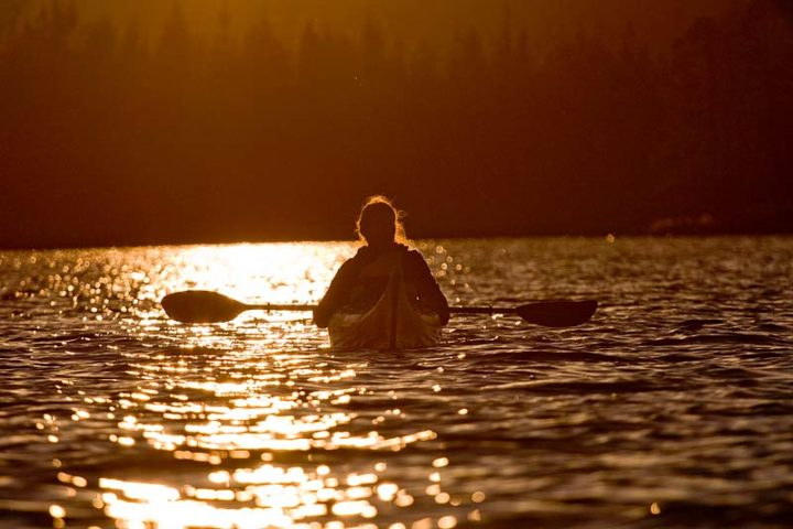 Midnight sun from the kayak is fantastic.