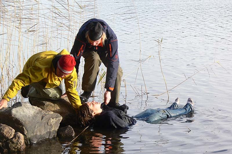 Hypothermia is a serious problem. Here we practice rescue from cold water and how to handle hypothermia.