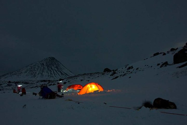 The first tent camp this week behind Slugga, Swedish Lapland.