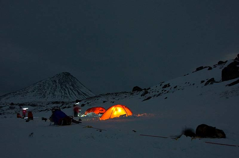 The first tent camp this week behind Slugga, Swedish Lapland.