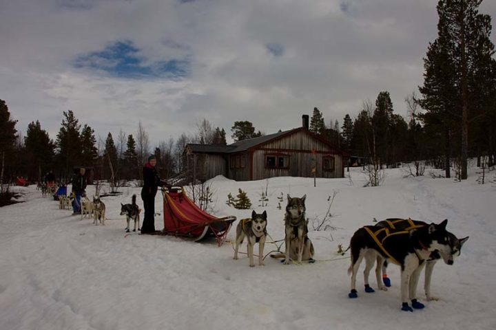 """Just arrived to Björkudden Camp and stopping for lunch."