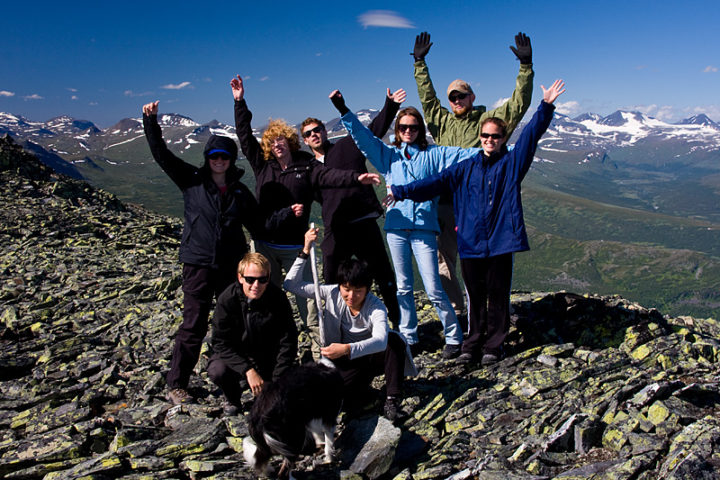 The group at Vallespiken, 1385meter over sea.