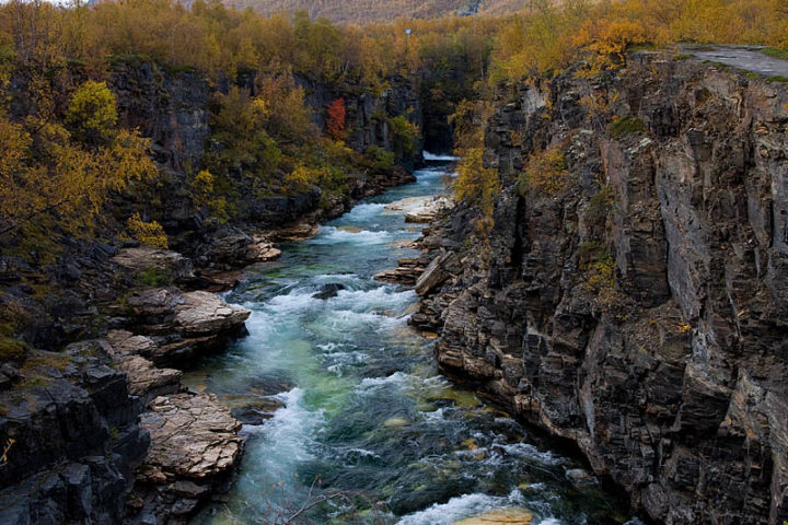 Canyon in Abisko National Park.