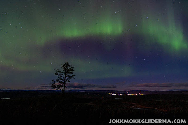 Aurora Borealis over Jokkmokk village