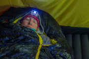 Winter camping in a Hilleberg tent on the tour: Sled dog adventure through Sjaunja and Kebnekaise