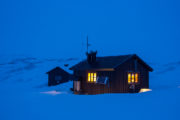 Mountain hut. Tuottar Padjelanta. Photo from dog sled tour Explore Sarek National Park.