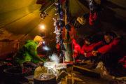 Tältcamp på Hundspannsäventyr och norrskensnätter