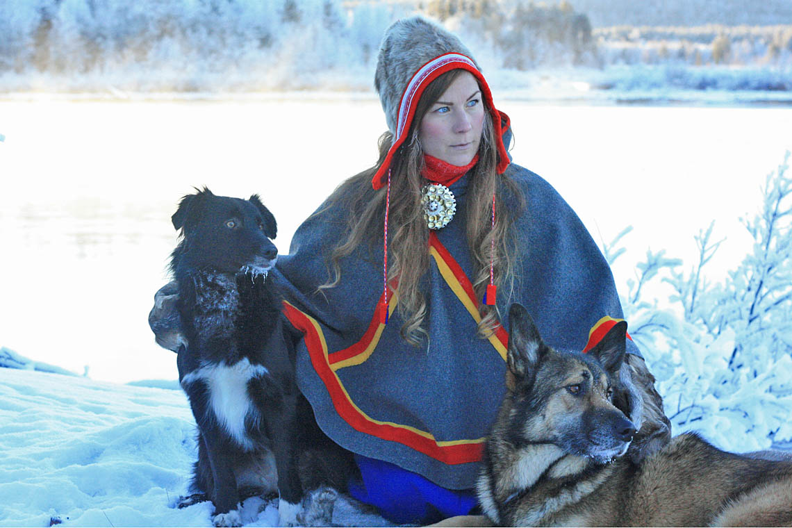 Sami culture with Anna at the arctic circle in Jokkmokk, Lapland.