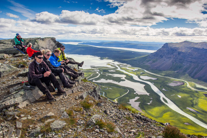 Hiking up to mount Skierfe and the gate to Sarek Nationalpark
