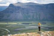 Rapadalens delta Sarek Nationalpark. Älgspaning på turen: Vandring till Skierfe och porten till Sareks Nationalpark